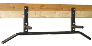 joist mounted pull up bar chin up bar